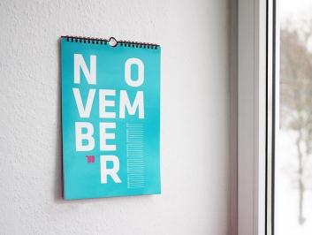 Typography Calendars